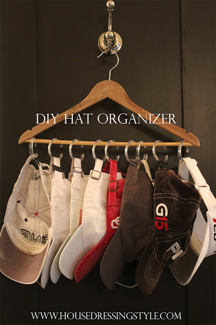 11 ways to organize with hangers organizing made fun 11 for Hat organizer for closet