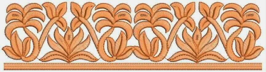 Vryhand styl van Kant grens ontwerp