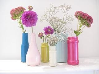 ペイントガラス花瓶