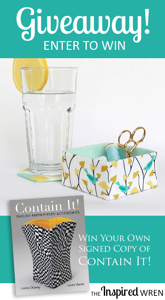 "Short Cube & Coaster, just two of the many projects from ""Contain It! English Paper-Pieced Accessories"" 