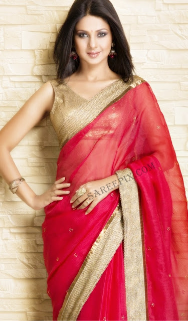Jennifer-winget-red-transparent-saree-photoshoot-Meena-Bazaar