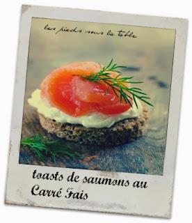 toasts de saumons au Carré Fais