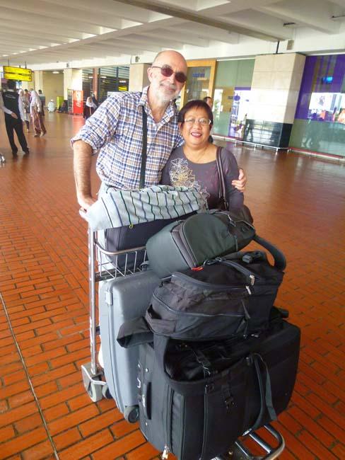 Salimos del aeropuerto con el equipage