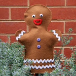 No Sew Gingerbread Puppet