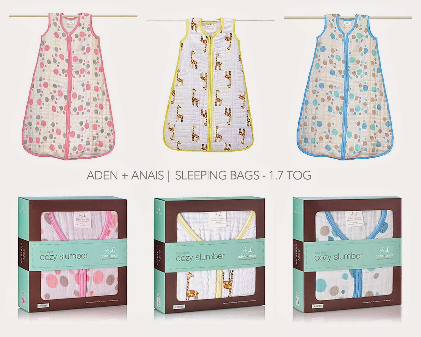 Biird Aden Anais Pure Baby Winter Sleeping Bags