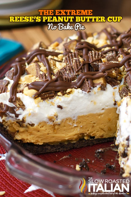 extreme reese s peanut butter no bake pie has an extraordinary pie ...