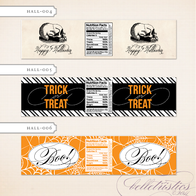 printable diy halloween party water bottle label trick or treat spider stripe chevron
