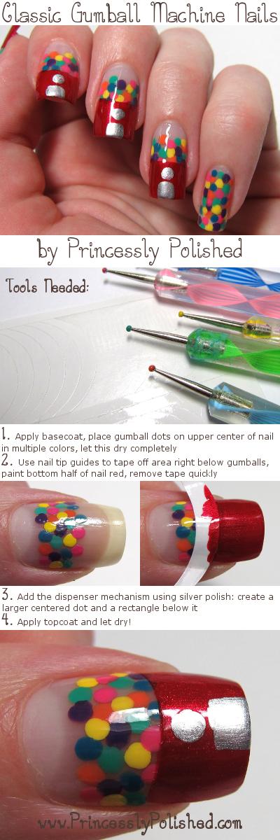 Princessly Polished: Tutorial: Gumball Machine Nail Art