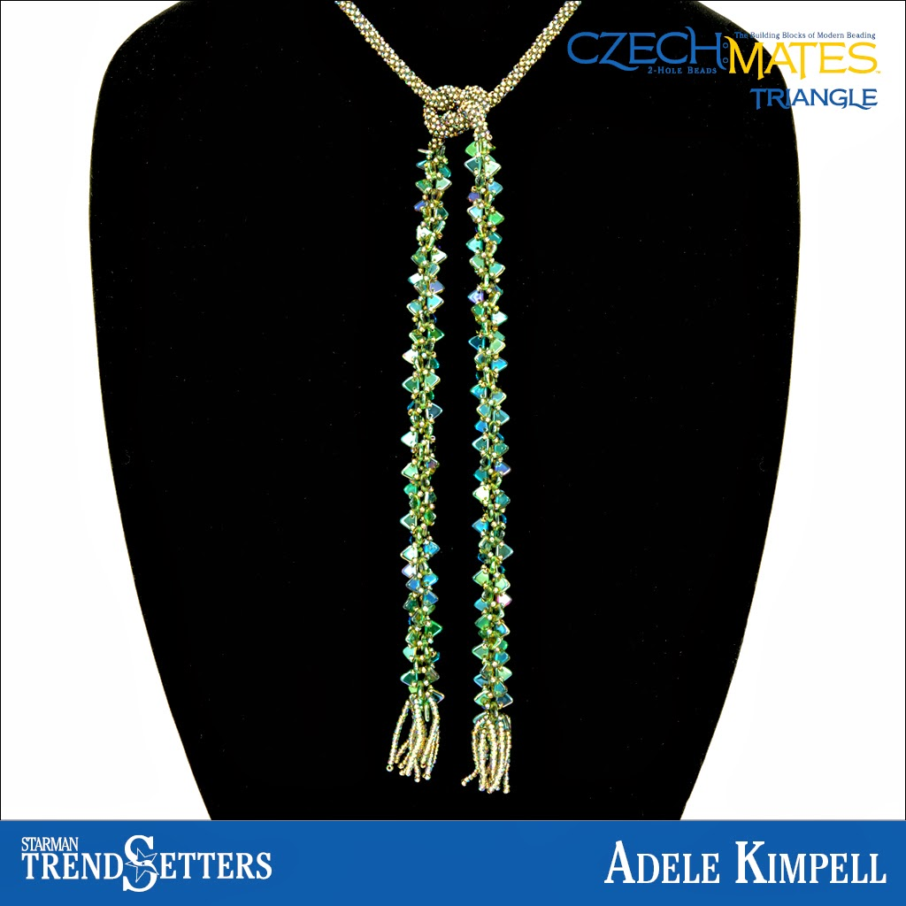 CzechMates Triangle Necklace by Starman TrendSetter Adele Kimpell