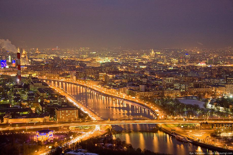 Рисунки ночных городов