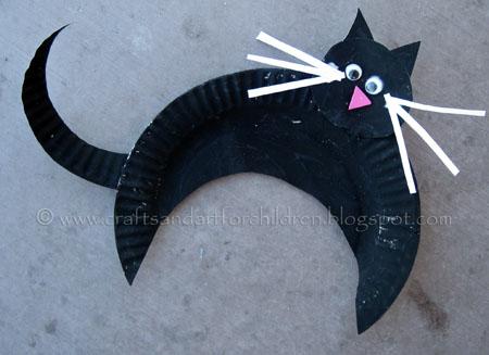 Поделки черный кот