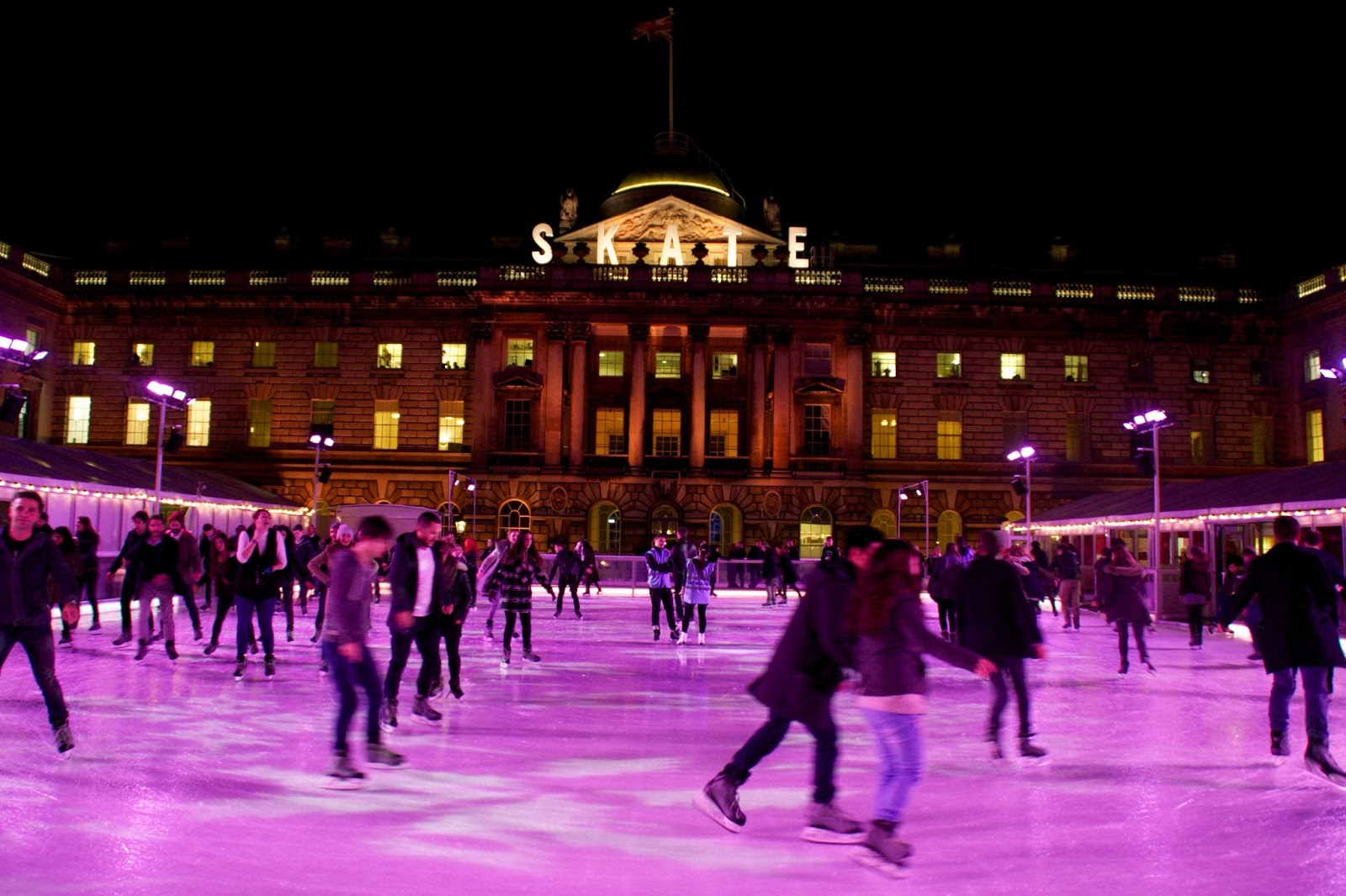jessie u0026 jake skate at somerset house with fortnum u0026 mason