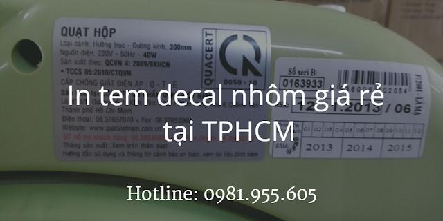 In tem decal nhôm giá rẻ tại TPHCM