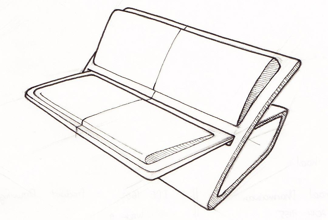 033 sofa 1001 chair sketches for Sofa design sketch