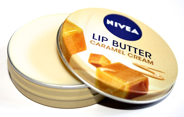 nivea lip butter in caramel cream