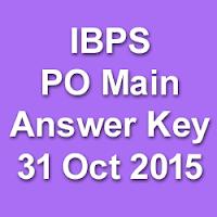 IBPS PO Main Exam Answer Key 2015