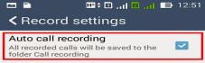 Auto Call Recording Asus ZenFone 2