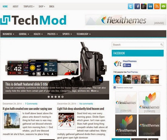 TechMod WordPress Theme