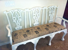 Burlap Bench- Sold