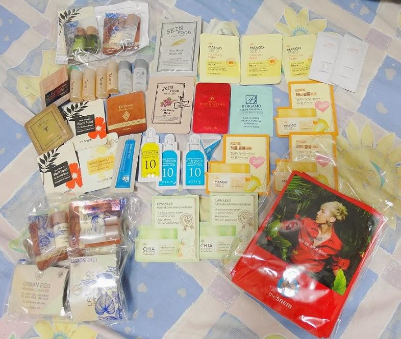 korean skincare haul 2014 seoul free samples quantity lunarrive