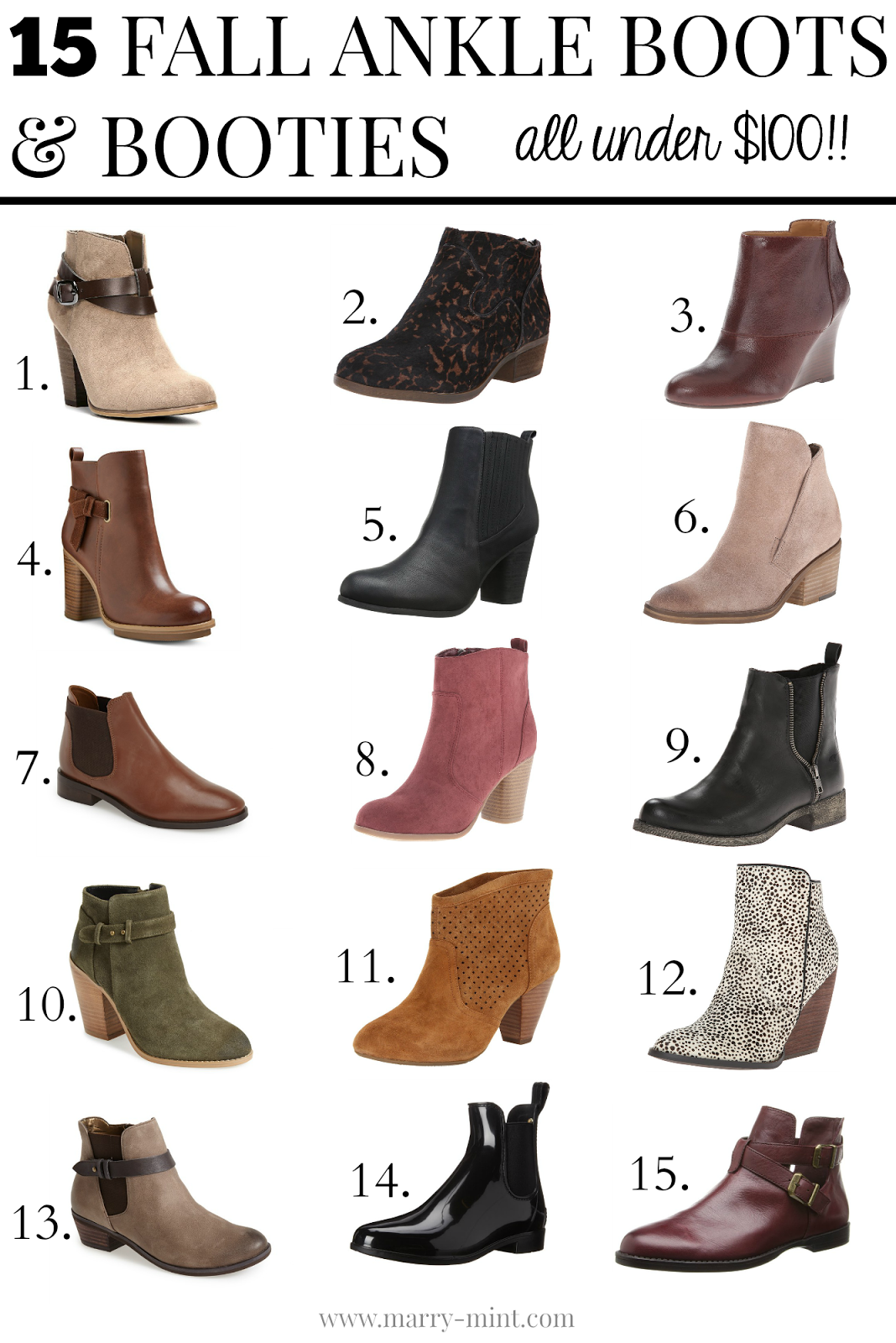 Marry Mint: Fall Ankle Boots & Booties   Promo Codes!
