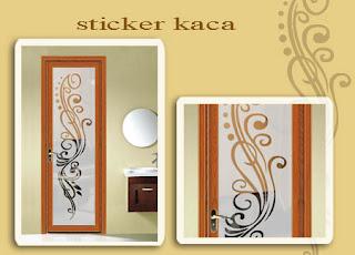desain stiker kaca artistik