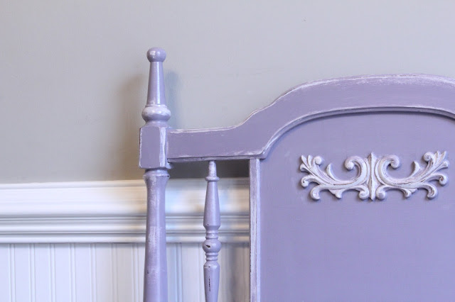 Vaseline, how to distress furniture, Silverado by Olympic,  chalk painted headboard