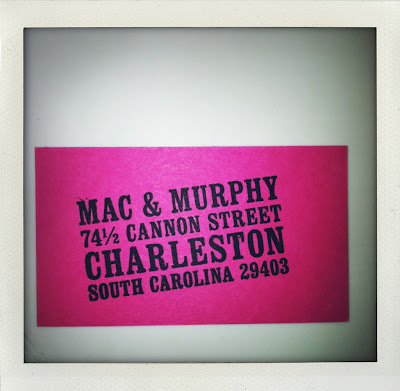 vintage custom return address stamps by paperwink available at mac & murphy - a charleston paper boutique