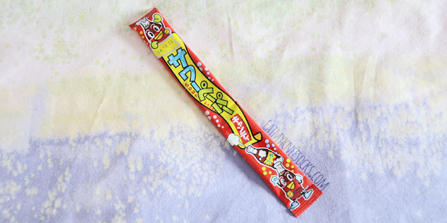 The chewy soda-flavored Yaokin sour paper candy was one of ten items included in the June 2015 Japan Candy Box subscription.