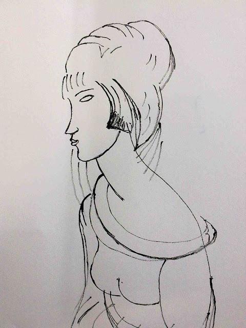 dibujo modigliani tinta