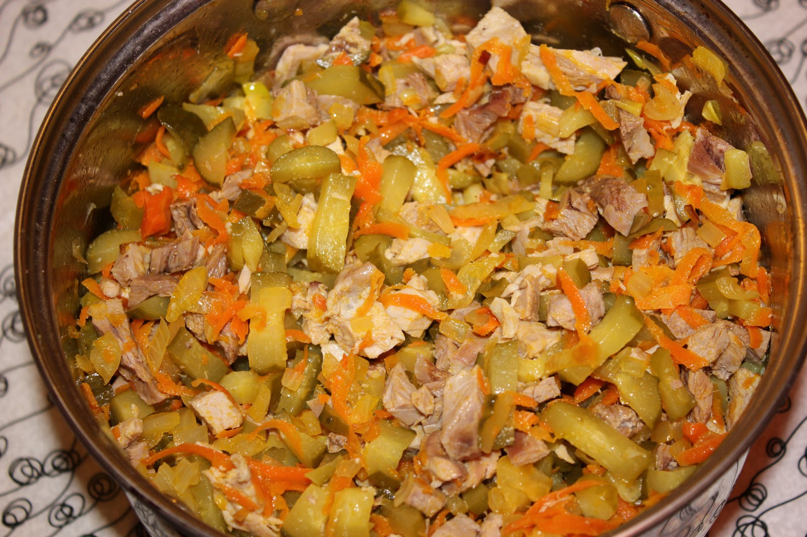 Рецепт салата обжорка пошаговый