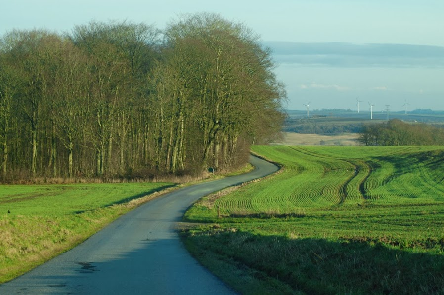 December, country road, Vissing, Randers