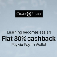 Flat 30% Cashback on ChalkStreet with pay via paymt wallet : BuyToEarn