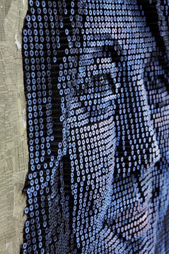 Increibles retratos en 3D con tornillos
