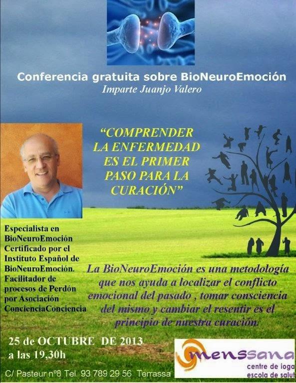 Conferencia sobre BioNeuroEmoción en Terrassa (Barcelona)