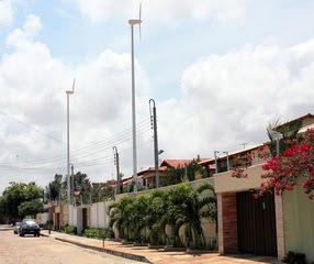 Aerogeradores chegam a casas e fábricas no Ceará
