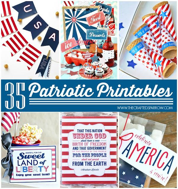 http://www.thecraftedsparrow.com/2014/06/35-free-patriotic-printables.html