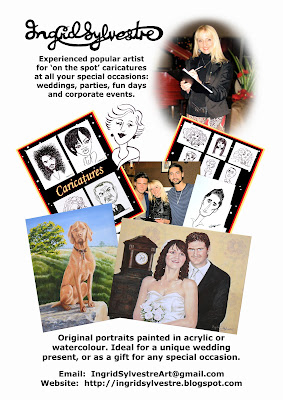 North East caricaturist & portrait painter Ingrid Sylvestre - Durham