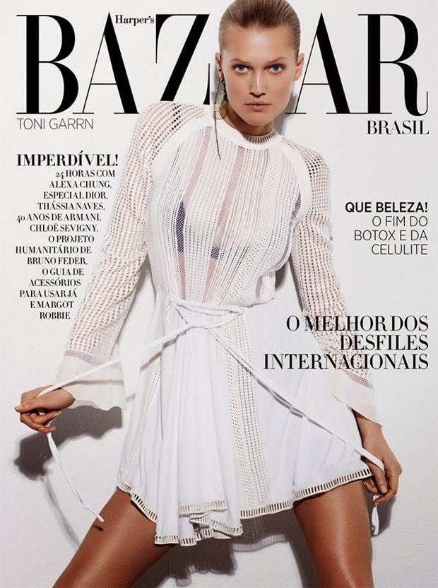 Fashion Model @ Toni Garrn by David Roemer for Harper's Bazaar Brazil