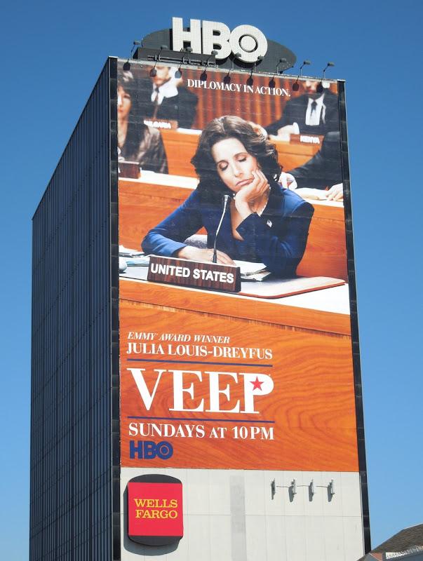 Giant Veep season 2 billboard