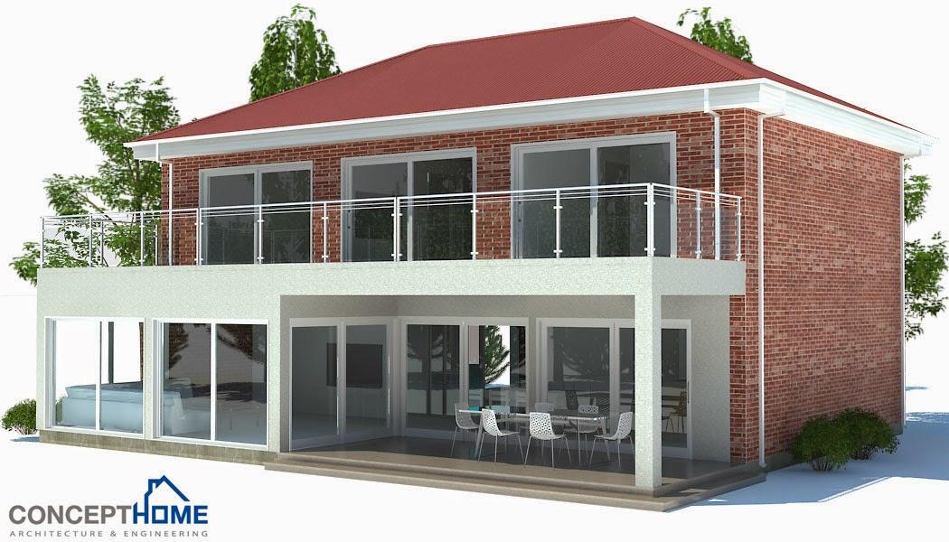 Plantas de casas modernas maio 2014 for Cost effective home designs