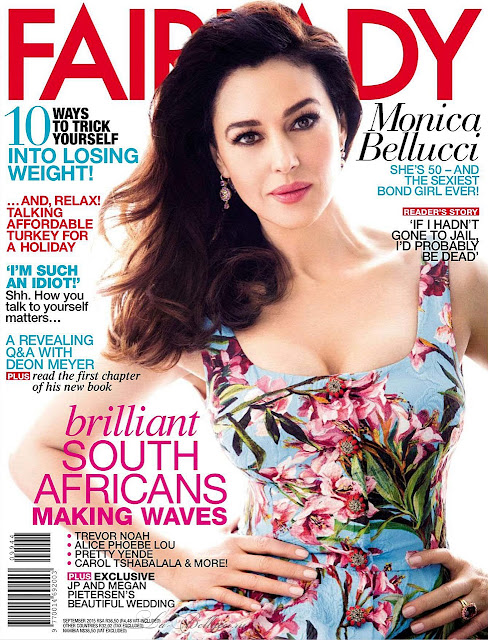 Actress, Fashion Model @ Monica Bellucci - Fair Lady South Africa, September 2015