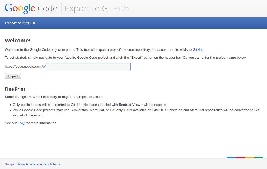cara export google code ke github