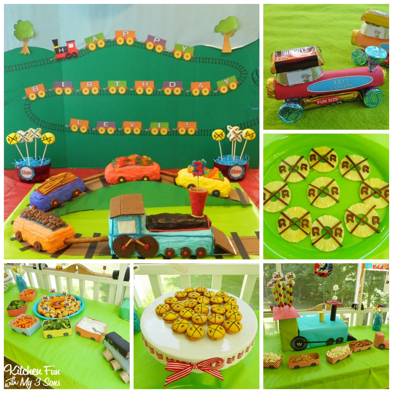 Train birthday party kitchen fun with my 3 sons for Kitchen set for 9 year old