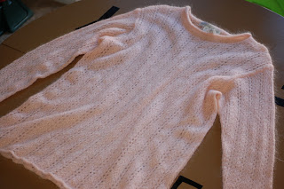 pink sweater to be up-cycled