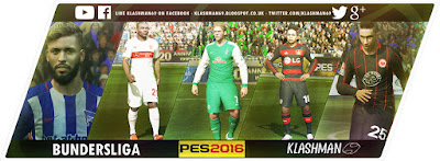 PES 2016 Klashman69 PC Kit Pack with Bundersliga, Premier League, Real & Barca