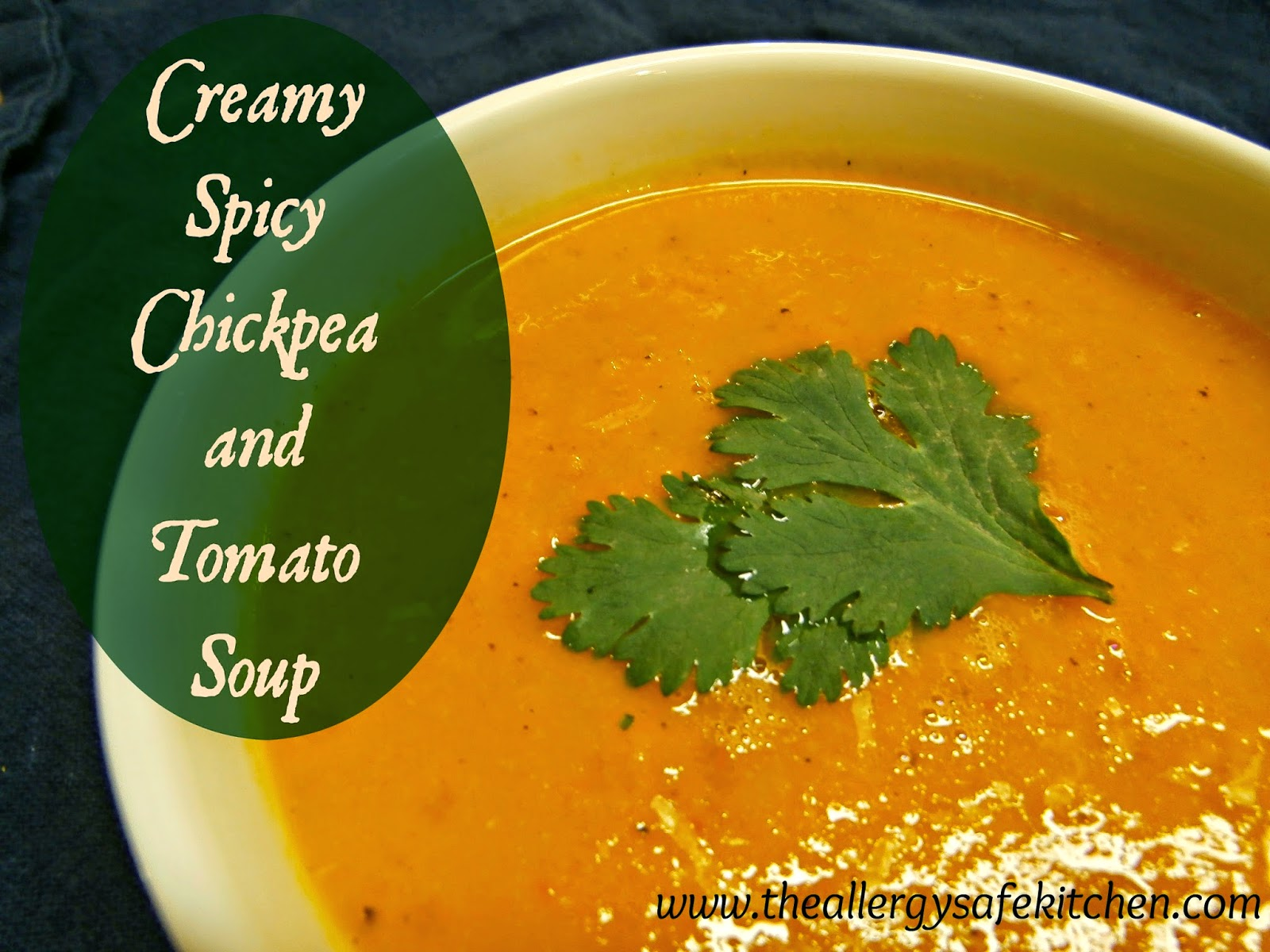 The Allergy Safe Kitchen: Creamy Spicy Chickpea and Tomato ...