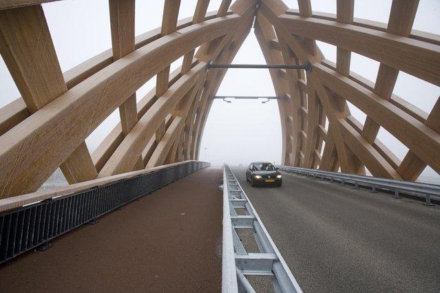 Wood Bridge In Netherlands
