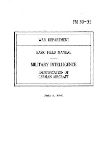 Basic Field Manual, Military Intelligence, Identification Of German Aircraft