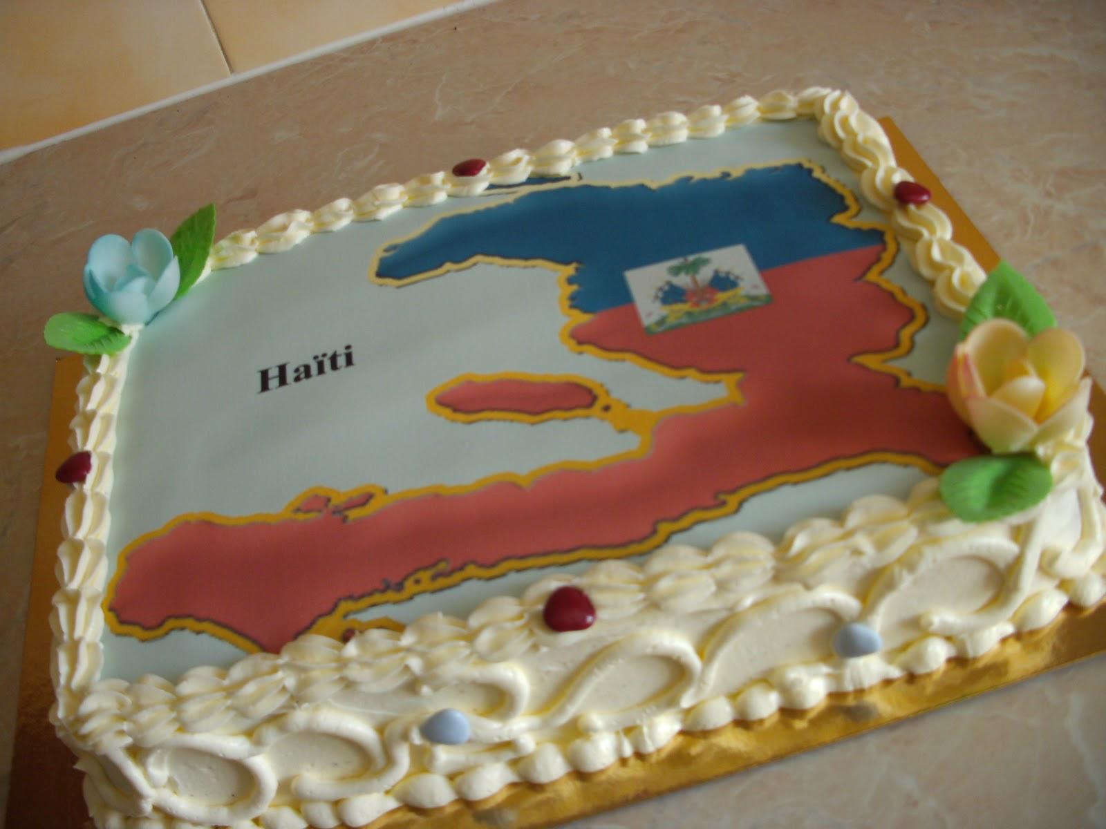 La Pâtisserie de Brunette: Gâteau haïtien personnalisé carte ...
